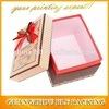 Los rectángulos de regalo decorativos de encargo de Cardbaord venden al por mayor con las tapas