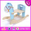 Cavalo de balanço de madeira de 2015 miúdos da qualidade superior, cavalo de balanço com promoção, brinquedo de madeira barato das crianças W16D061 do cavalo de balanço do jogo engraçado