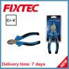 A mão profissional CRV de Fixtec 7 de  utiliza ferramentas alicates diagonais da estaca