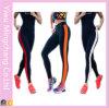La vente chaude folâtre le pantalon rayé de coton de yoga de couleur de piquer latéral