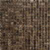 Heißes Sale Emperador Dark Marble 25mm Square Chip Mosaic Tile