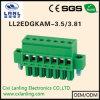 Steckbarer Stecker der Klemmenblock-Ll2edgkam-3.5/3.81
