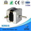 Motor de paso de progresión híbrido de la mejor venta de NEMA16 12V