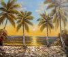 Venta al por mayor mano de pintura al óleo moderna del paisaje (LH-319000)