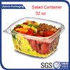 Recipiente plástico descartável da salada do animal de estimação desobstruído