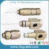 Câbles coaxiaux de liaison P3 500 Qr540 Connctors en aluminium (TC09) de joncteur réseau