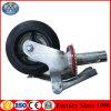 Verwendetes Baugeräte mobiles Fram Strichleiter-Baugerüst-Fußrollen-Rad mit Bremse