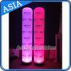 5m DEL allumant le pilier gonflable avec l'impression faite sur commande de Digitals avec le ventilateur de base rotatif DEL