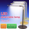 유일한 폴딩 접촉 책상용 램프 LED 금속 호두 목제 테이블 램프