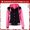 Chaqueta rosada por encargo Hoodie del béisbol del suéter para las mujeres (ELTBQJ-540)