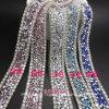 La striscia del diamante del Rhinestone degli accessori di cerimonia nuziale di DIY con la colla della protezione per la colla di scambio di calore sopra o cuce su (TS-017)