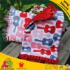 Minky rojo Guitar Print con Lace Minky DOT Baby Pillow Cover