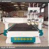 Macchina pneumatica di falegnameria di CNC delle teste del cambiamento tre dello strumento