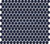 Corpo cheio vitrificado branco azul cerâmico do mosaico redondo (HL0006)