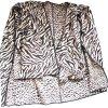 Плаща-накидк леопарда зебры шерстей