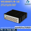 One Optical Fiber (VD2000TR-16V)에 16CH One-Way Video Optical Transceiver