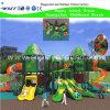 Campo de jogos do parque de diversões da casa de árvore com corrediça do desengate (HK-50032)