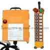 Commande à télécommande sans fil industrielle adaptée aux besoins du client de grue de grue de Telecrane F21-18d, à deux vitesses