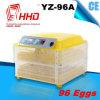 96 Incubator van het Ei van de Kip van eieren de Hoge Efficiënte Mini Automatische (yz-96A)