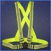 V-Neck High Visibility Reflexivo Segurança Cross Elastic Strap Vest Belt