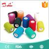 Roulis auto-adhésif de bande de gaze de bandage de premiers soins de soin médical sportif de cheville