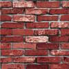Papier peint de vinyle d'effet 3D de brique rouge pour le mur