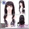 Peruca amarrada do cabelo humano de Remy das mulheres de India 100% da forma mão cheia