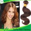 100%の加工されていない人間の毛髪のブラウンのペルーのバージンの自然な編むこと
