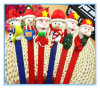 Stylo bille de Noël du père noël d'argile de polymère de cadeau de décoration de Noël