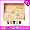 2014 het nieuwe Stuk speelgoed van de Verf van Jonge geitjes Kleurrijke Houten, Stuk speelgoed van de Verf van Kinderen Popualr het Houten, het Hete Verkopende Onderwijs Houten Stuk speelgoed W03A058 van de Verf DIY