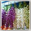 Flores de seda plásticas artificiais decorativas Home da flor de parede do cair do PE