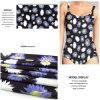 Ткань Swimwear печатание цифров с цветком хризантемы