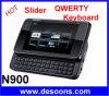 Téléphone portable coulissant QWERTY de bande de quadruple de clavier (N900)