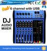 Mezclador de calidad superior DJ de la música de los canales del profesional CT-60s 6