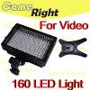 160 lâmpada quente da luz da sapata da câmara de vídeo de 126 diodos emissores de luz