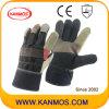 Verkaufs-Regenbogen-Möbel-Rindleder-Leder-industrielle Handsicherheits-Arbeits-Handschuhe (310081)