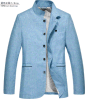 도매 OEM Spring 또는 Autumn Fashion 단 하나 Breasted Men Linen Jacket