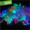 Indicatore luminoso leggiadramente della stringa di festa di natale LED di alta qualità con il coperchio C7