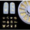 stagnola della decalcomania degli autoadesivi della fetta della decorazione di arte del chiodo di natale del metallo dell'oro 3D