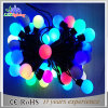 Luz feericamente ao ar livre da corda da decoração azul do diodo emissor de luz do Natal