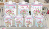 Promozione Flower Pattern Porcelain Seal Pot/Storage Containers/750ml Ceramic Seal Pot