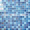 20X20mm blaue Mischungs-Antibeleg-heiße Schmelzglasmosaik-Fliese (BGE001)