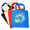 Color solido Non Woven Bag per Shopping con Flower
