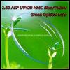 1.60 ASP UV420 lente óptica del verde azul/amarillo de Hmc