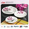 Flor Diseño redondo de cerámica de porcelana 18PCS Vajillas