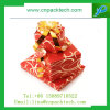 Caja de regalo de papel a todo color roja caliente