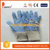 De blauwe Katoenen Handschoenen van de Tuin met het Patroon AchterDgk418 van de Druk