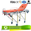 Faltbares Stretcher Trolley mit Mattress (CE/FDA/ISO)