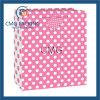 中型のショッキングピンクのポルカドットのギフト袋