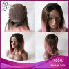 똑바른 Ombre Black 또는 브라운 또는 Pink 바브 Synthetic Lace Front Wig